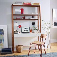 This desk that stays out of the way.   17 Desks That Will Make You Want To Actually Get To Work