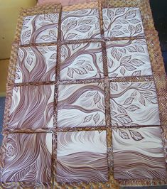 handmade, ceramic wall art tiles by Natalie Blake Studios
