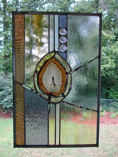 Stained Glass Panel:  Gold Agate #3