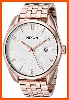 Nixon Women's A4182183 Bullet Rose Gold-Tone Watch - All about women (*Amazon Partner-Link)