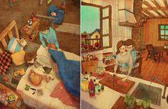 Love Story Through Illustrations – Fubiz™