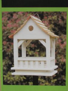 The Blakeney bird table-feeder on a metal pole Durable wooden construction for outdoor use Easy to clean maintain Approx size 22 9 inches x Bird Tables, Spool Tables, Bird Crafts, Diy And Crafts, Bird House Kits, Metal Pole, Christmas Bird, Bird Boxes, Wooden Bird