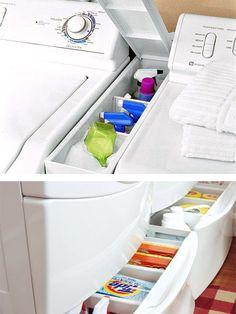 Storage between washer & dryer!