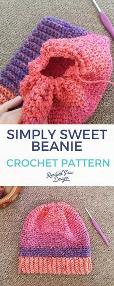 Crochet this Easy Crochet Beanie Pattern! With this simple step by step tutorial you will know how to crochet a beanie in no time at all!