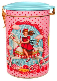 Tea, Coffee and Sugar Tins. I would love to have my tea put in cute little tins like this!