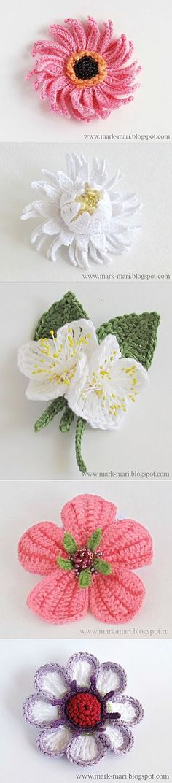 "Цветы крючком от ""Марк и Мари""."