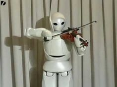 Toyota have unveiled a new robot that can play the violin. Albeit not particularly well.
