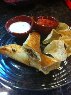 Baked taquitos, sort of. Easy, kid friendly dinner