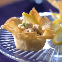 Mini Shrimp Phyllo Cups With Dill Pesto And Feta Recipes — Dishmaps