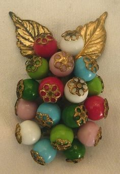 Image result for miriam haskell fruit salad bead brooch
