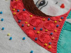 Blanket stitch wheels // https://flic.kr/p/L2EcRX   Nadina   www.fronterad.com/?q=bitacoras/mariatenorio/nadina-y-sus-...