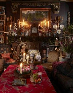 Gypsy Decor. I love the spookiness of it. Expecting the scooby gang to show up and have their fortunes told!