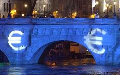 Euro signs are projected on the Pont Neuf bridge over the Seine river in Paris. The European Union and the euro: this is a marriage made in hell. Roger Bootle http://www.telegraph.co.uk/23 May 2016 • 10:00am