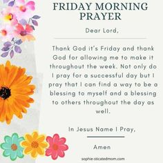 Thursday Morning Prayer, Monday Prayer, Morning Prayers, Thank You Lord, Dear Lord, New Every Morning, Blessed, Nothing To Fear, Friday Weekend