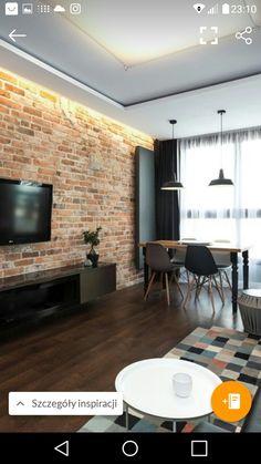 Small Living Rooms, New Living Room, Living Room Decor, Home Room Design, Dining Room Design, Home Decor Furniture, Dining Room Furniture, Brick Interior, Interior Design