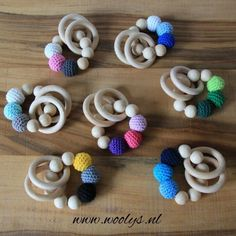 Gratis haakpatroon Bijtring Crochet Gifts, Diy Crochet, Crochet Toys, Newborn Toys, Baby Toys, Baby Patterns, Crochet Patterns, Baby F, Diy Baby Gifts