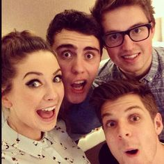 Zoe, Alfie, Jim and Marcus, I love how these people that don't know I exist can make me smile more than anyone that does know me