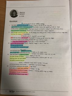 Power and Conflict Poems - Kamikaze by Beatrice Garland pt. English Literature Poems, Poems In English, English Gcse Revision, Gcse English Language, Gcse Poems, Revision Motivation, Poetry Lessons, Study Board, School