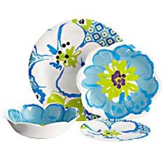 Catalina Cove dinnerware.  Won't it be fun to eat off these pretty dishes?