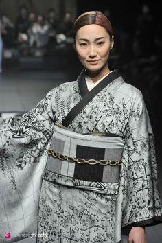 140319-7482 - Autumn/Winter 2014 Collection of Japanese fashion brand JOTARO SAITO on March 19, 2014, in Tokyo.