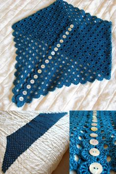 Multiplicity Shawl details: SUCH A COOL IDEA