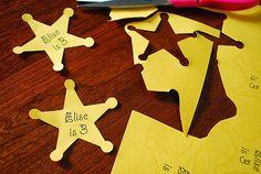 Vaqueros: estrellas de Sherif para imprimir gratis.