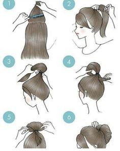 Peinados – – Tutorial Per Capelli New Hair Do, Hair A, Curly Hair Styles, Medium Hair Styles, Cute Simple Hairstyles, Braided Hairstyles, Kawaii Hairstyles, Popular Hairstyles, Ponytail Hairstyles Tutorial