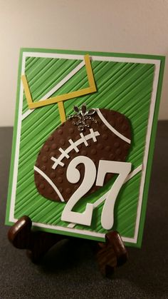 football paper pieced card, birthday, Jeannette Schwarz Designs