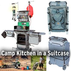Grub Hub Camp Kitchen (grubhubusa.com, $400)Organize all your camp cooking supplies into one easily transportable package. Great for car camping, but probably not ideal for the 50-mile backpacking trek.