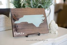 Custom Made Stained and HAND PAINTED State by Kateslittleshop
