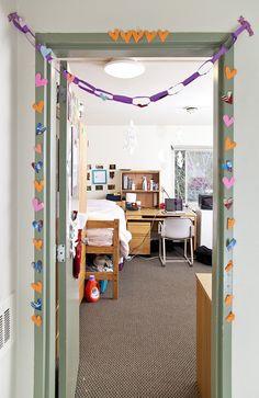 Entrance to a McCarty Hall dormroom