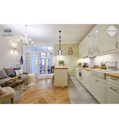 Arabeska duża, biała, szkliwiona - płytki ceramiczne/mozaika| sklep RawDecor.pl Kitchen Island, Table, Furniture, Home Decor, Interiors, Amazing, Google, Tables, Home Furnishings