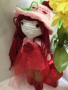 Crochet Strawberry Blossom Doll
