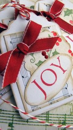 Song of Joy Vintage Christmas Gift Tags pk of 4 - Koko Vanilla Designs