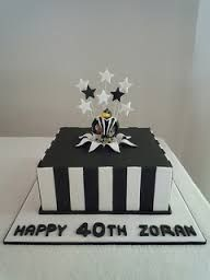 collingwood cake - Google Search Collingwood Football Club, Black And White Football, Dad Cake, Basketball Party, Sport Cakes, Happy 40th, Birthday Cakes, Football Cakes, Google Search