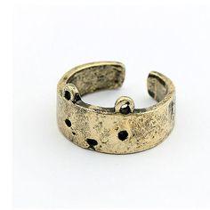 Bronze Bear Face Ring