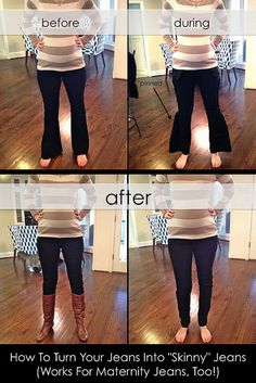 "How to Turn Your Jeans Into ""Skinny"" Jeans by It's Great To Be Home, via Flickr"