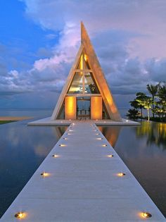 Imagine walking to this building every night to enjoy the sunset.