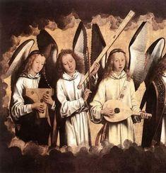 Angel Musicians, Hans Memling, 1480s © Koninklijk Museum voor Schone Kunsten, Antwerp
