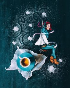 Lost in my music 🎶 Coffee, anyone? Coffee Latte Art, Coffee Aroma, Coffee Cafe, Sweet Coffee, I Love Coffee, My Coffee, Coffee Heart, Coffee Girl, Happy Wallpaper