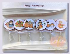 Thanksgiving is just around the corner! Make your own homemade lollipops. They will put a smile on the little one's faces! Homemade Lollipops, Make Your Own, How To Make, Around The Corner, Give Thanks, Cookie Jars, Happy Thanksgiving, Faces, Sweets