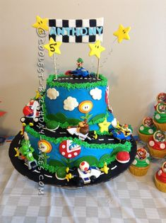 Marvelous Photo of Super Mario Birthday Cake . Super Mario Birthday Cake Coolest Mario Kart Wii Birthday Cake In 2018 Birthday 12 Nintendo Mario Birthday Cake, Super Mario Birthday, Custom Birthday Cakes, Super Mario Party, Homemade Birthday Cakes, Themed Birthday Cakes, Diy Birthday, Birthday Ideas, Mario Kart Cake