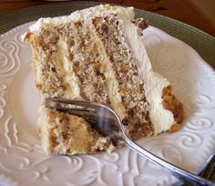 A Walnut Chiffon cake with generous amounts of Maple Custard Cream filling slathered with a Whipped Cream Frosting. Spectacular enough for a king or queen. Cheesecake Recipes, Cupcake Recipes, Cupcake Cakes, Dessert Recipes, Cupcakes, Whipped Cream Cakes, Walnut Cake, Chiffon Cake, Party Cakes