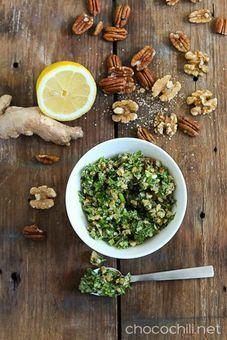 Inkivääri-pähkinägremolata