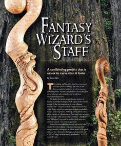 Carving Wizard Staff - Wood Carving Patterns - Wood Carving