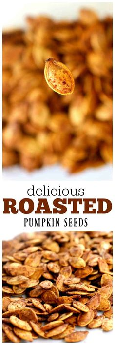 Roasted Pumpkin Seeds - The Girl Who Ate Everything Roasted Pumpkin Seeds, Roast Pumpkin, Pumpkin Spice, Seasoned Pumpkin Seeds, Savory Pumpkin Seeds, Pumkin Seeds, Fun Easy Recipes, Fall Recipes, Easy Meals
