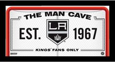 Los Angeles Kings Man Cave Sign 10x20 Framed Photo
