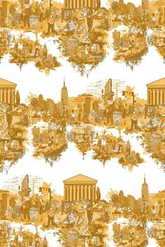 Timorous Beasties Fabric - New York City Toile - I LOVE the moire, but I might have to go with this for the upholstered room! I love the colour and it is such fun!