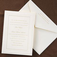 Elegant Borders - Invitation - Ecru Carlson Craft available at Note Worthy