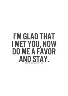 I'm Glad I Met You (Live Life Happy) | just saying | Meeting you